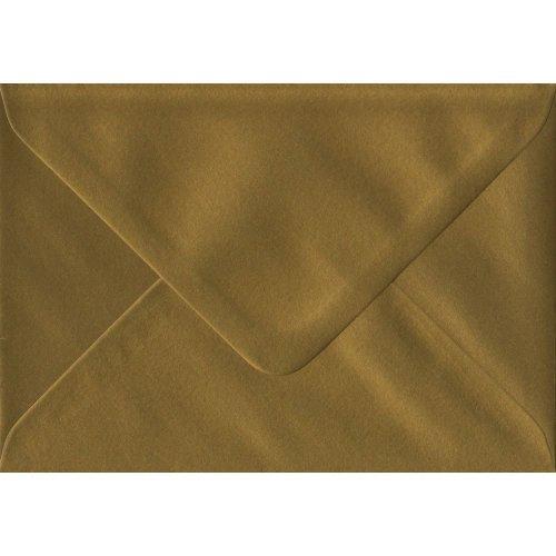 Gold Gummed C7/A7 Coloured Gold Envelopes. 100gsm FSC Sustainable Paper. 82mm x 113mm. Banker Style Envelope.