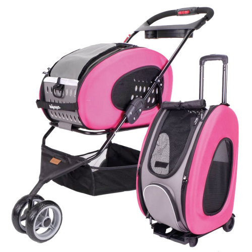 Ibiyaya Multifunction Pet Stroller 5 In 1 Pink