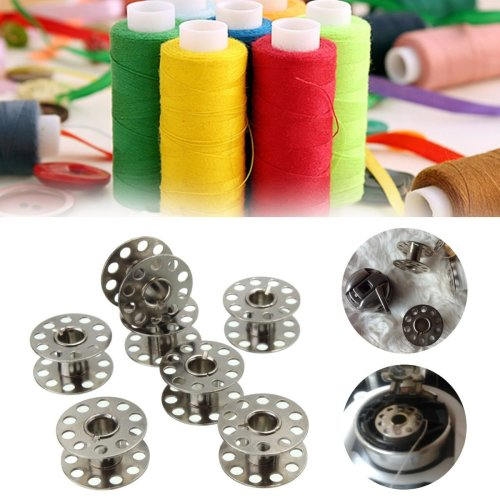 25 Pcs Standard Sewing Machine Bobbins Rotary Spools Reels Part Home Accessories With Plastic Box