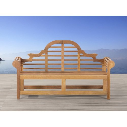 Garden bench of white balau, 180 cm - JAVA Marlboro
