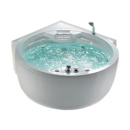 Round Corner Bathtub White MILANO II