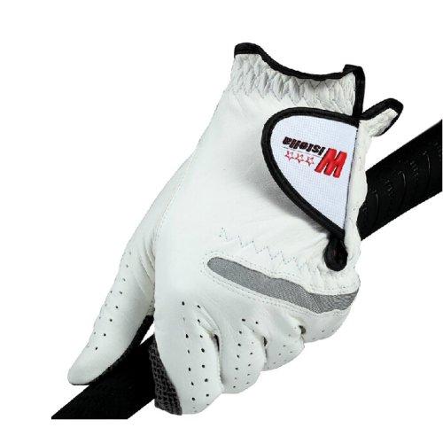 Comfortable Non-slip Men's Golf Gloves Synthetic Leather WHITE Left Hand 25#