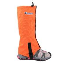 Set Of 2 Outdoors Waterproof Shoe Gaiters,Unisex Windproof Foot Strap Orange