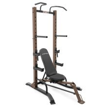 SteelBody STB-98502 Power Tower Rack & Fold-Up Adjustable Bench