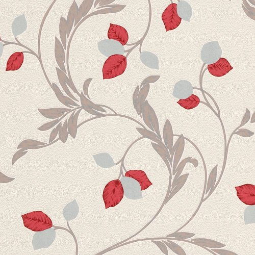 Erismann Shimmer Floral Leaf Pattern Wallpaper Glitter Leaves Textured Vinyl 9782-06