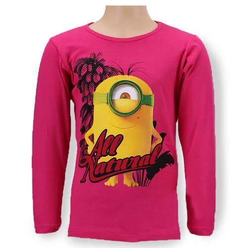 Minions T Shirt - Long Seeve - Pink