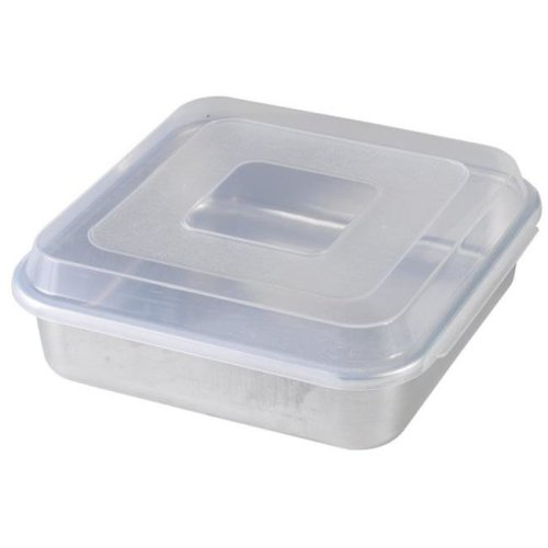 9 in. X 9 in. Square Cake Pan With Lid