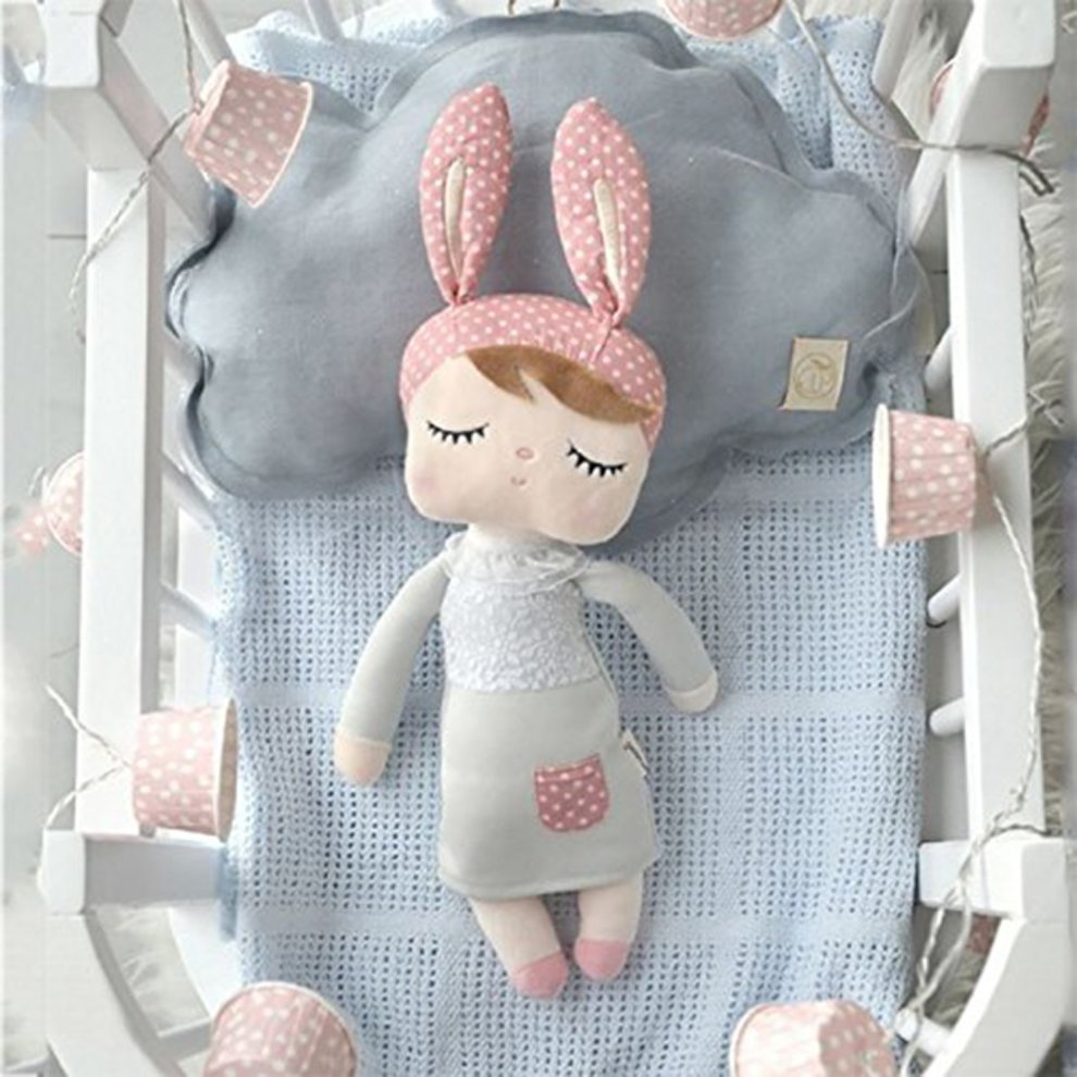 ... Stuffed Bunny Rabbit Dolls - Plush Angela Sleeping Dolls Gray Dress with Gift Bag (12 ...