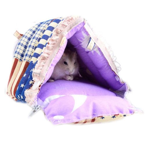 For Small Furry Animals Warm Soft Cartoon Pet Bed Best Home Pet Supplies