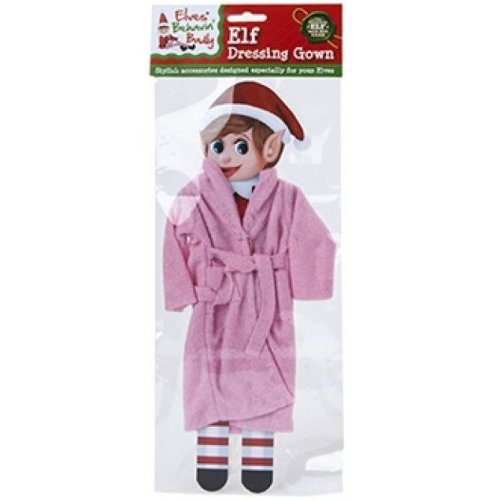 Elves Behavin Badly - Elf Nightware Dressing Gown - Pink