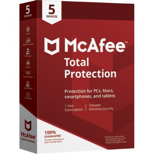 McAfee Total Protection Antivirus | 5 Devices