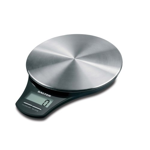 Salter Stainless Steel Digital Kitchen Weighing Scales – Stylish Silver