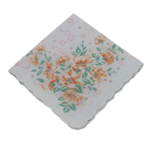 3 Pcs Retro Floral Print Handkerchiefs Ladies Cotton Pocket Handkerchief, #11