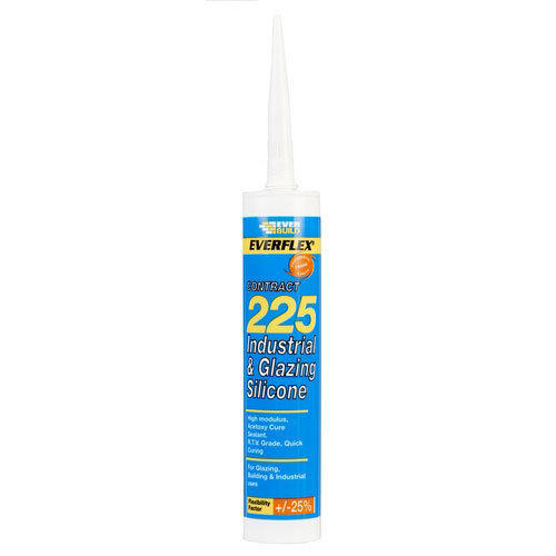 Everbuild 225 Industrial And Glazing Silicone Clear C3 Tube