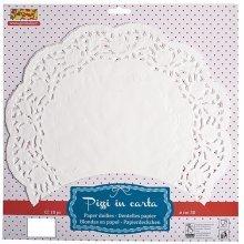 10cm White 100pk Round Doilies