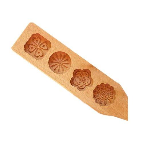 Dessert Baking Molds/Wooden Carving Baking Molds, Clover(35*7.5*2cm)