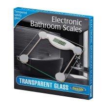 Sentik Transparent 150kg Digital Electronic Glass LCD Bathroom Weighing Scale
