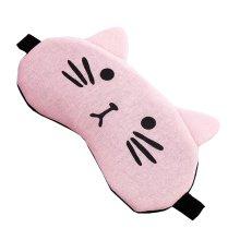 Sleeping Meditation Light Blocking Eye Mask Cute Cat Design