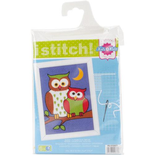 """Night Owls Plastic Canvas Kit-5.25""""X7.25"""""""