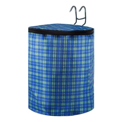 [Plaid-2] Waterproof Canvas Bicycle Basket Foldable Lidded Basket for Bike