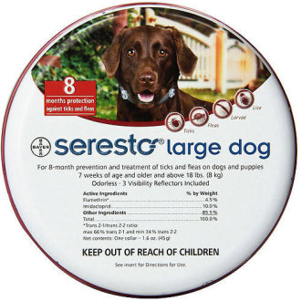 Seresto Large Dog Flea & Tick Collar | 8kg+ Dog Tick Collar