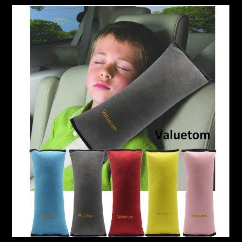 Valuetom Cotton Velvet Car Safety Seat Belt Pillow Cushion for Children (Gray)