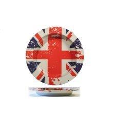 Metal Union Jack Ashtray Novelty Souvenir Gift UK GB Flag UJ Street Party Home