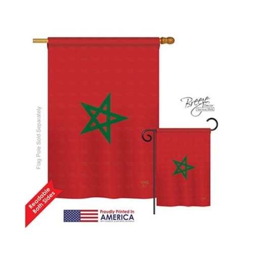 Breeze Decor 08250 Morocco 2-Sided Vertical Impression House Flag - 28 x 40 in.