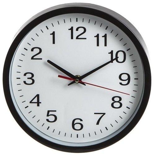 Black And White Backwards Round Face Wall Clock. - Novelty Clock Reverse Anti -  novelty backwards wall clock reverse anti clockwise operation