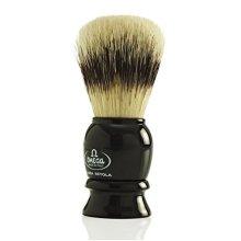 Omega Shaving Brush #13522 Pure Boar Bristles Black