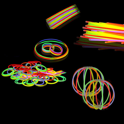 200mm Glow Sticks with Connectors, Wrist Band Bracelets, Neon Necklaces for Birthdays, Party Favors