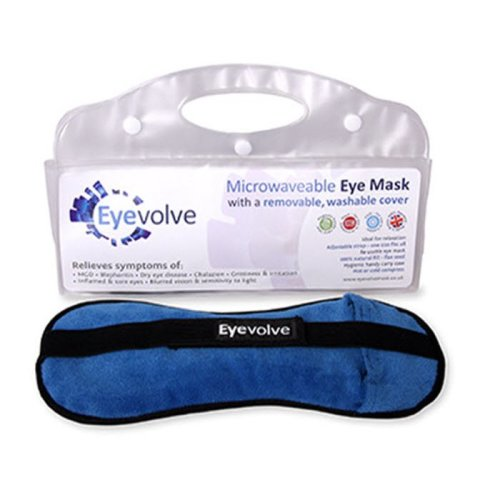 Microwaveable Eye Mask with REMOVABLE WASHABLE COVER