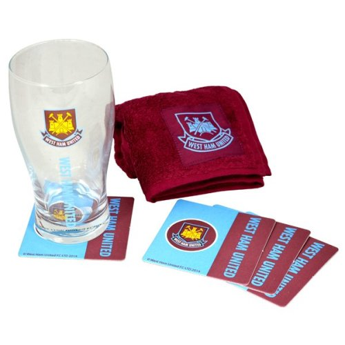 West Ham Wordmark Mini Bar Set - United Football Fc Glass Official New Gift Club -  set mini bar west ham united football fc glass official new gift