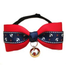 England Style Pet Collar Tie Adjustable Bowknot Cat Dog Collars with Bell-A03