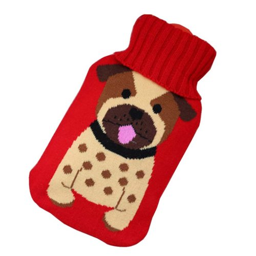 [Dog] Big Hot Water Bottle Cute Hot Water Bag Hot Water Bottle With Cover