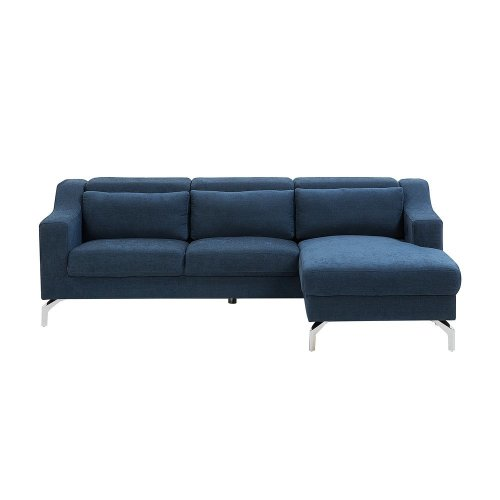 Fabric Corner Sofa Blue GLOSLI