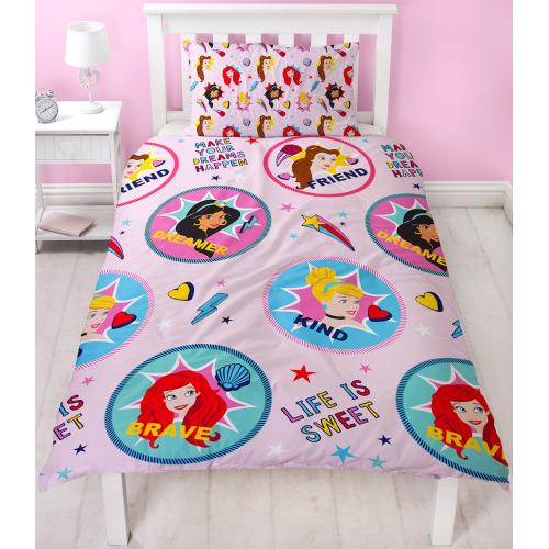Pillow Case Junior Disney Character Bedding Reversible Kids Quilt Duvet Cover
