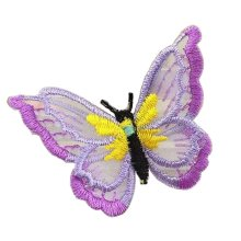 6 Pcs Exquisite Applique Patches Yarn Applique Embroidered Patches, Butterfly #1