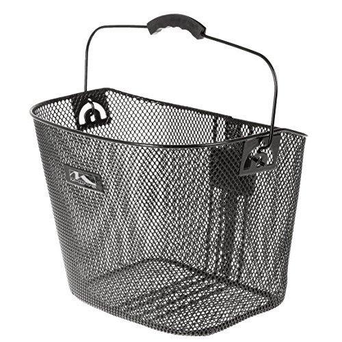 M Wave Reinforced Wire Bicycle Basket Black 37 X 26 X 25 Cm