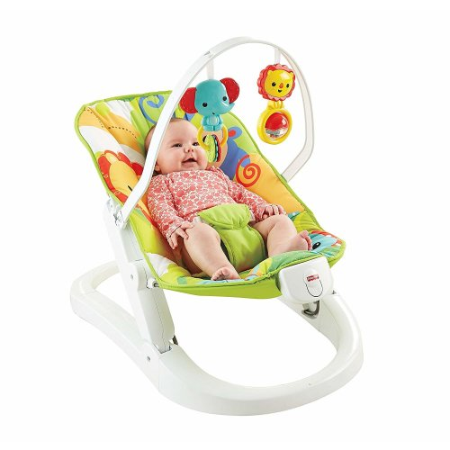 06ecd44c1fb0 Fisher Price Rainforest Friends Fun n Fold Bouncer on OnBuy