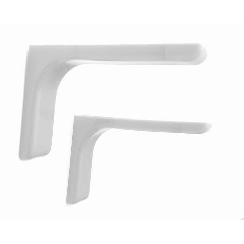 Covered Shelf Support Brackets 180mm - White | Concealed Shelf Brackets