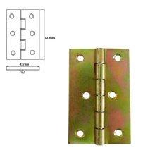 40 Pcs Folding Closet Cabinet Door Butt Hinge Brass Plated 60x43mm