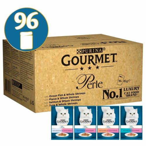 Gourmet Perle Ocean Delicacies in Gravy Cat Food, 96 x 85 g