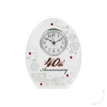 40th Wedding Anniversary Mirror and Clock Gift by Shudehill giftware