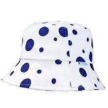 Sun-resistant Cotton Dark Blue Dots Comfortable Ventilate Baby Cap Infant Hat