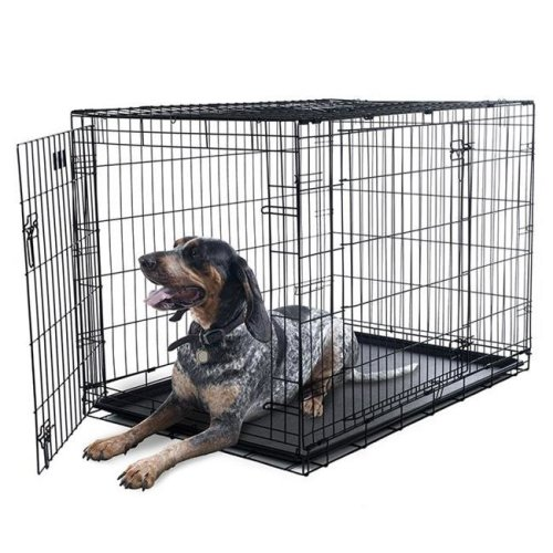 Petmaker 80-421501 42 x 28 in. Door Foldable Dog Crate Cage