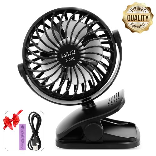 Eseoe Clip On Fan Mini Desk Small Table Or Rechargeable Battery Operated Fans Perfect Portable For Baby Stroller Office Bed