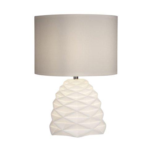Searchlight Crumple White Ceramic Dual Light Table Lamp
