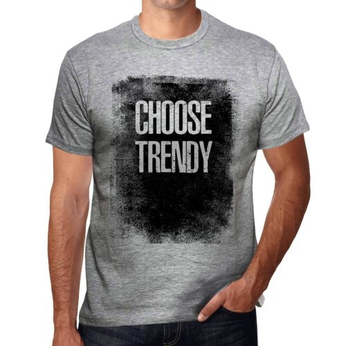 4a4840979 Mens Vintage Tee Shirt Graphic T shirt Choose TRENDY Grey Marl on OnBuy