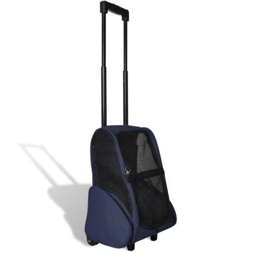 vidaXL Foldable Multipurpose Pet Trolley Blue Doggy Travel Trailer Stroller